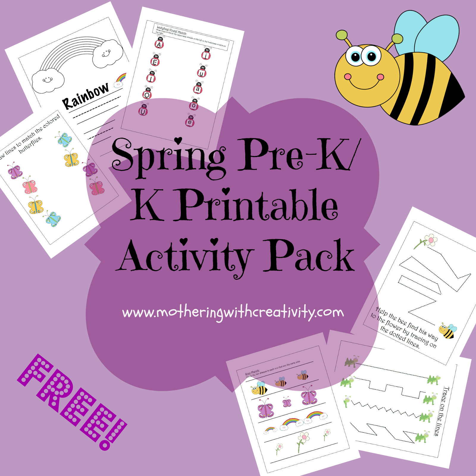 Mothering With Creativity Free Spring Pre K K Printable