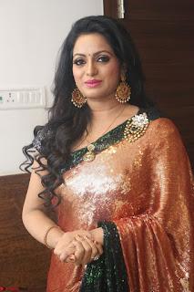 Udaya Bhanu lookssizzling in a Saree Choli at Gautam Nanda music launchi ~ Exclusive Celebrities Galleries 066.JPG