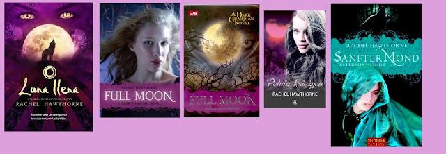 portadas del libro de fantasía juvenil Luna llena de Rachel Hawthorne
