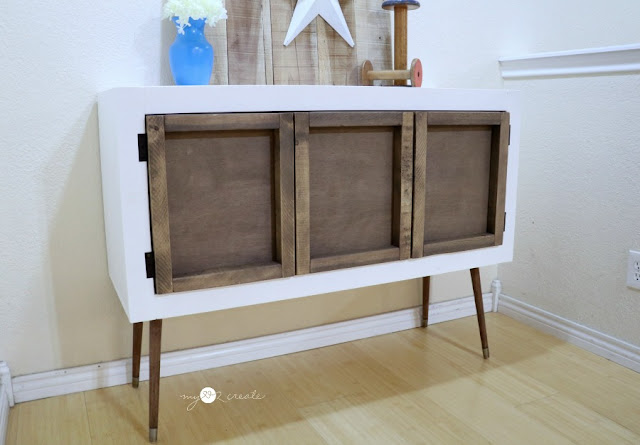 Beautiful Credenza with a hidden kids pull down table