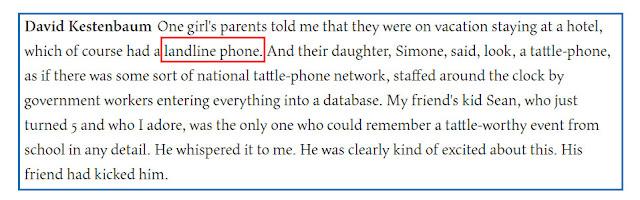 Tulisan Landline Phone di Artikel