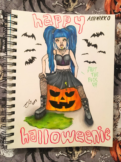 X Music TV presents Ashnikko and the music videos for her song titled Halloweenie, Part I & II Pumpkin Spice. Art by Twitter.Com/Dreameater1997 - #XMusicTV