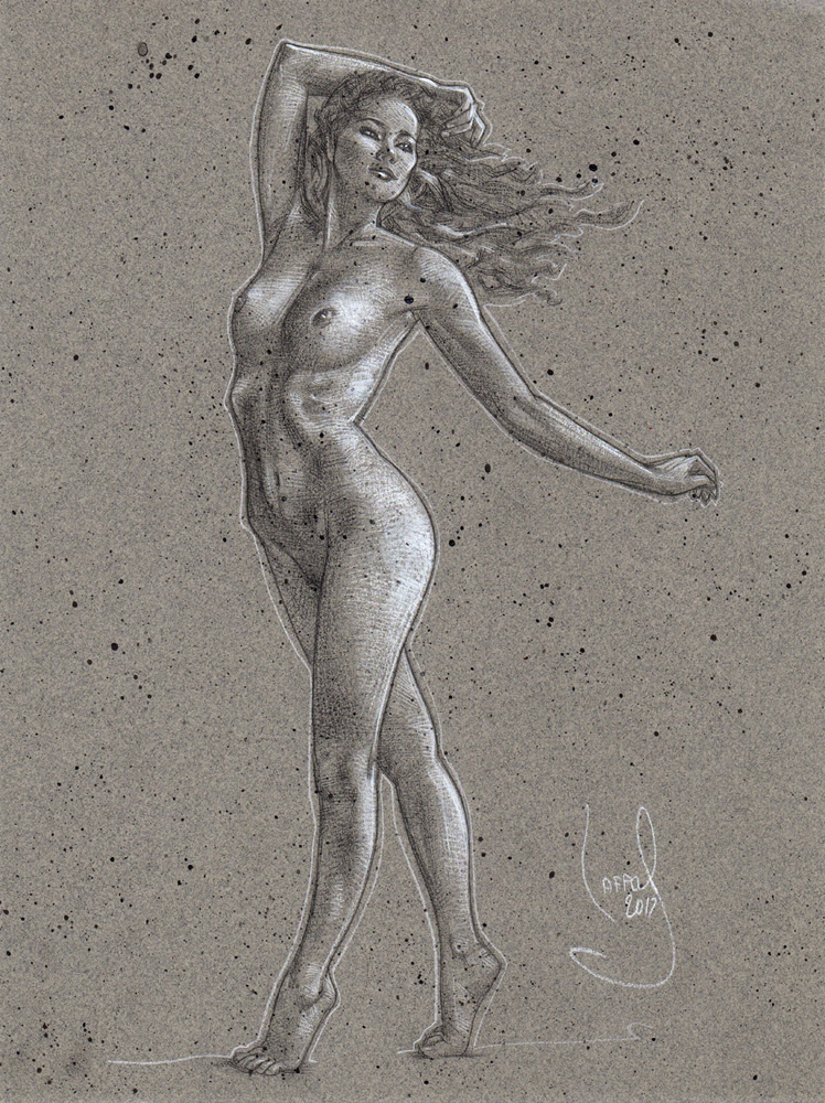 Standing Nude, Artwork © JEFF LAFFERTY 2017