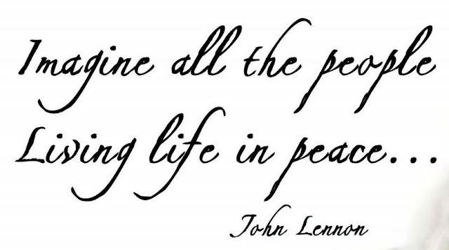 """Imagine all the people living for today"" Jon Lennon - Imagine"