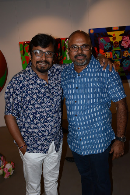 Artist Manish Pushkale and Artist Roy Thomas