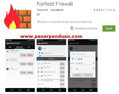 menghilangkan iklan di hp android dengan aplikasi noroot firewall