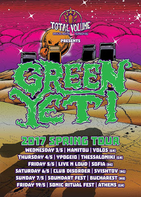 Green Yeti 2017 spring tour, total volume