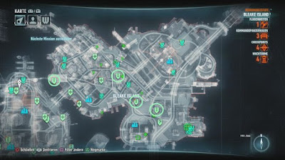 Batman Arkham Knight, Occupy Gotham, Bleak Island, Tower Locations map