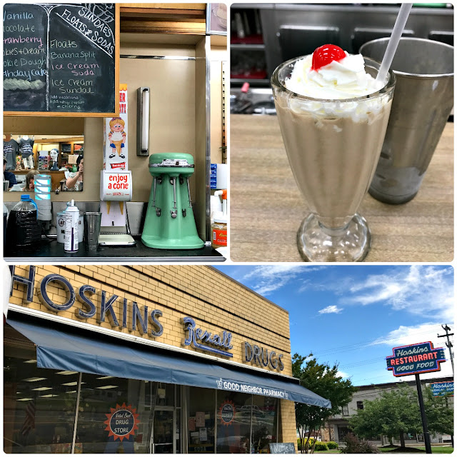 Grab a stool at the authentic 1940's soda fountain inside Hoskin's Drug Store in the historic downtown area of Clinton, TN & order a creamy & cool hand dipped milkshake or malt.