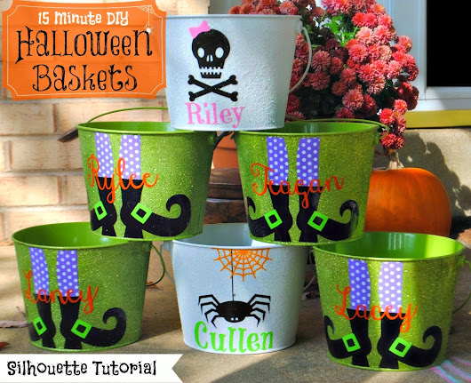 15 Minute Customized Halloween Buckets (On The Cheap)