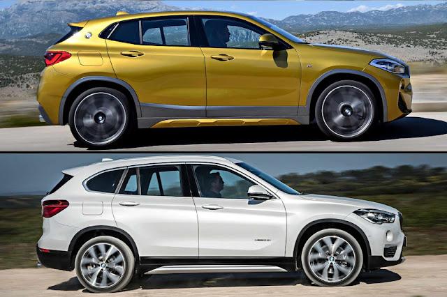 Обновление или восстание BMW X2 против BMW X1