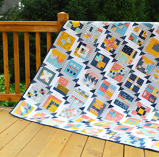 Summer Blockbuster Quilt-Along designed by Sharon McConnell of Color Girl Quilts