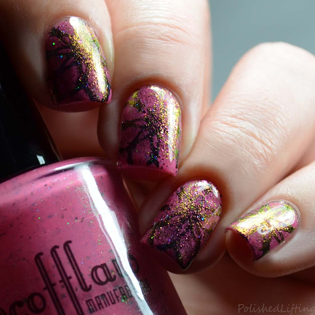 color shifting flakie stamping