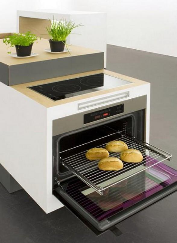 Cocina compacta y ampliable para espacios peque os c mo for Diseno de cocinas integrales en espacios pequenos