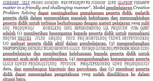 Hasil Convert pdf ke word hanya berupa kode dan simbol