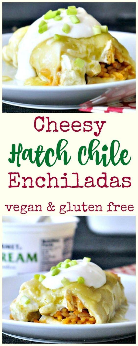 Cheesy Hatch Chile Enchiladas
