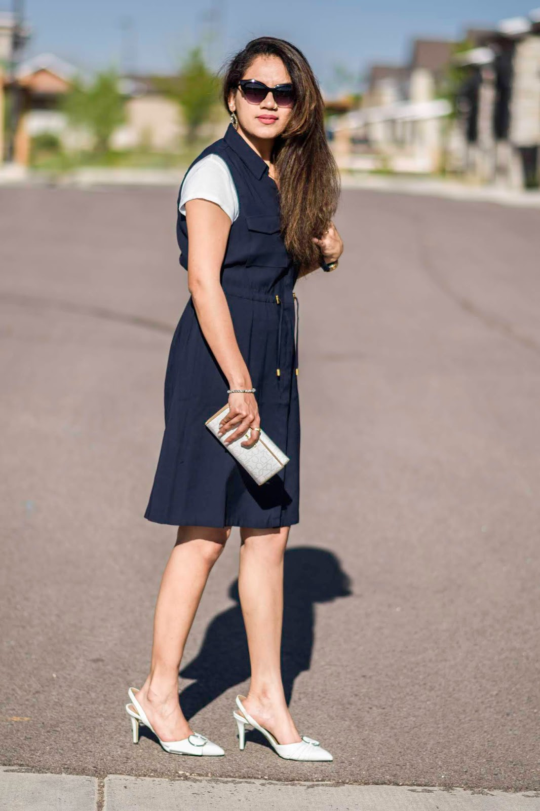 Styling A Shirt Dress; Aim for Glam; Prasanthi Kadiyala; H&M; High Street Lookbook; Vogue; Charles and Keith; Calvin Klein