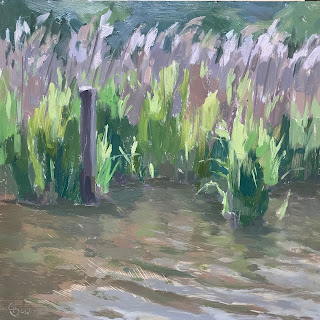 #179 'Frensham Little Pond' 8×8″