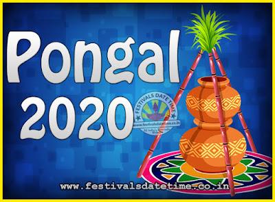 2020 Pongal Festival Date & Time, 2020 Thai Pongal Calendar