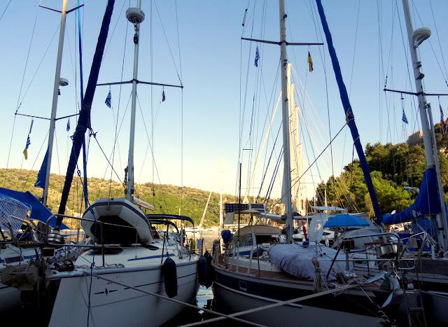 Spilia Harbour Sailboats