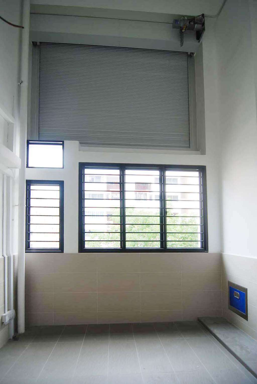Butterpaperstudio reno t2 maisonette roller shutter at for Hdb balcony design