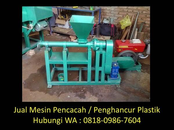mesin pencacah gelas plastik di bandung