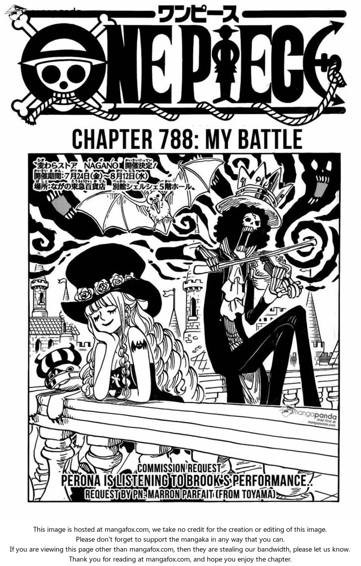 One Piece Ch 788: My Battle