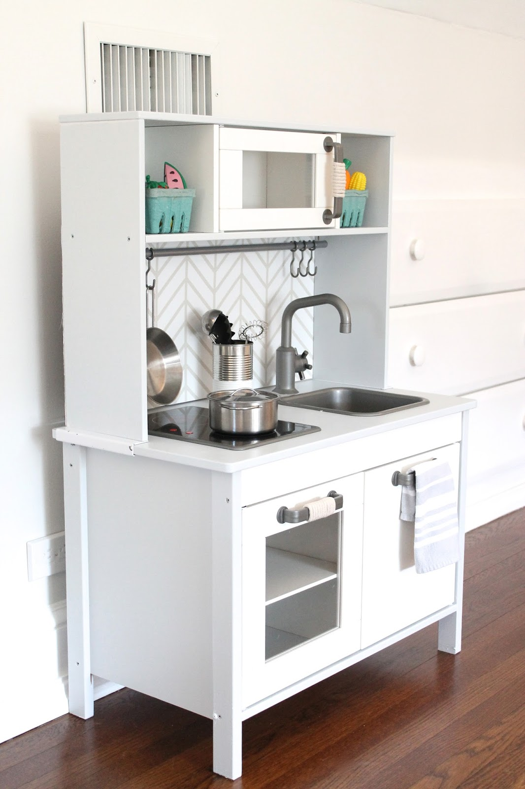 Wooden Play Kitchen Ikea the picket fence projects: kiddie kitchen renovation