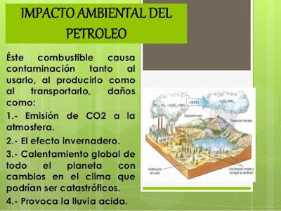 impacto ambiental del petroleo
