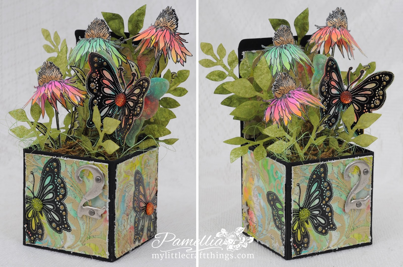 I Tried To Make Up For It By Using The New Flower Garden Stamp Set Hope You Enjoy My Tim Holtz Box