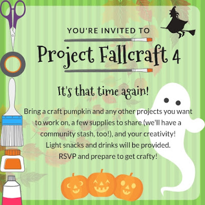 fall Halloween craft party invitation