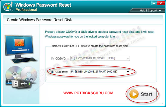 creating windows 8 password recovery disk