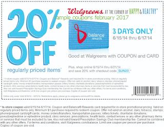 Walgreens coupons february