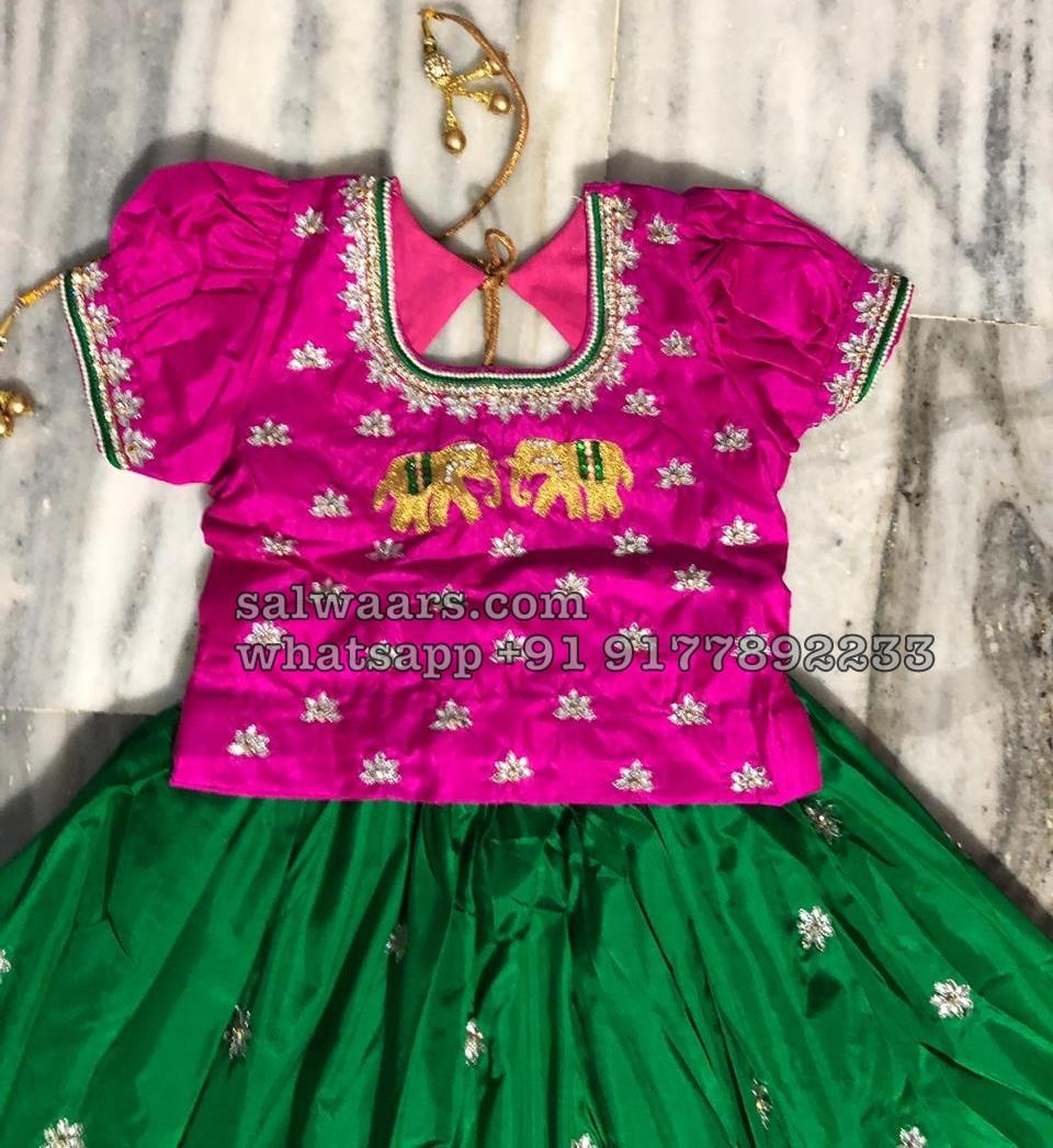 4d108f5e1eff2 Elephant Design Pretty Kids Lehenga - Indian Dresses