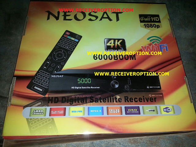 NEOSAT 6000BOOM HD RECEIVER CCCAM OPTION