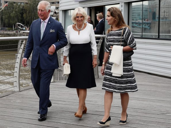 Prince Charles, Duchess of Cornwall and Princess Haya of Jordan visited Maiden Yacht. Maiden Factor Foundation