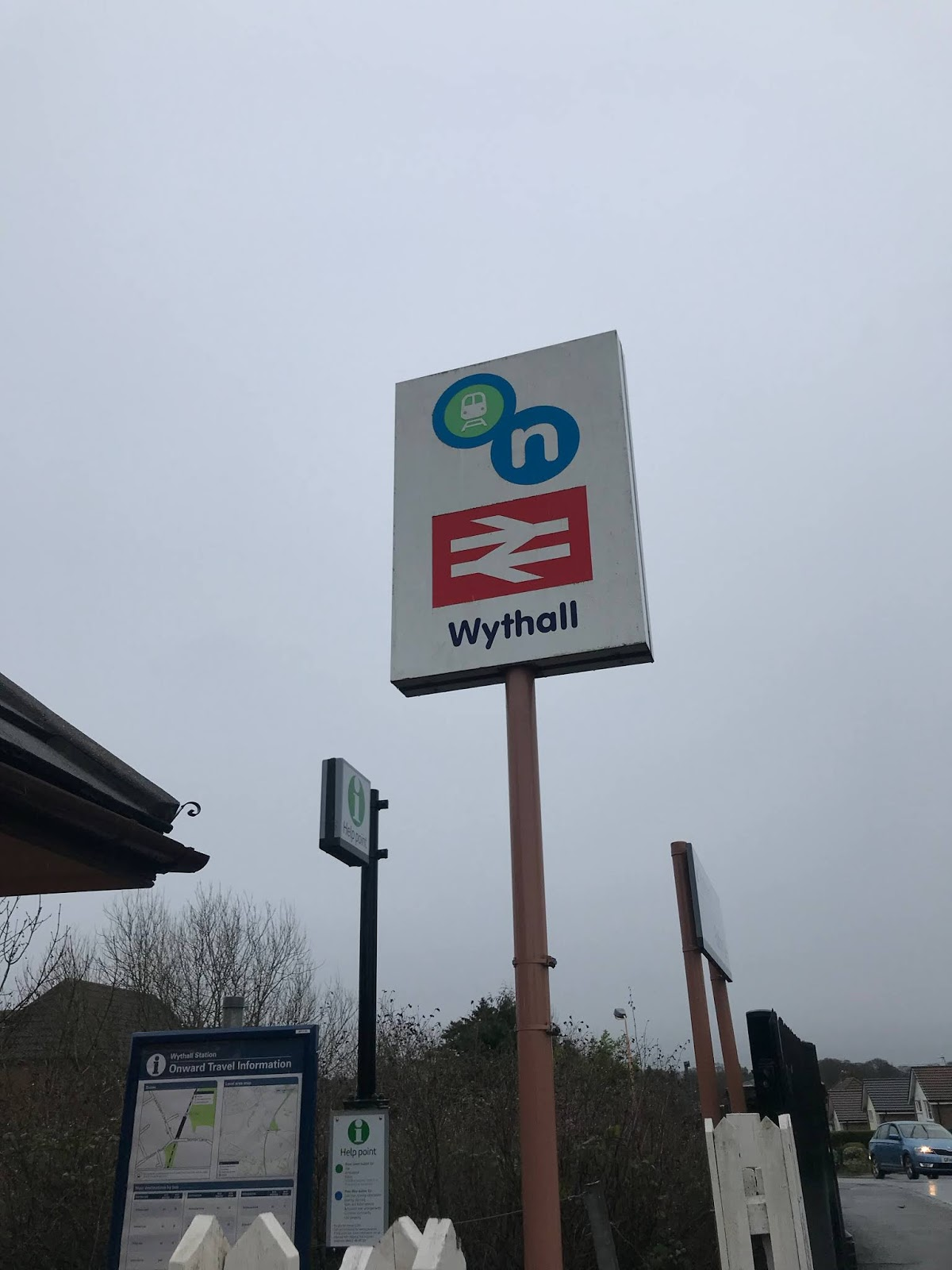 Wythall train station sign