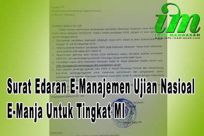 Sebelumnya untuk tinggak MA dan MTs sudah berakhir proses pendataan capesun melalui aplik Surat Edaran E-Manajemen Ujian Nasioal / E-Manja Untuk Tingkat MI