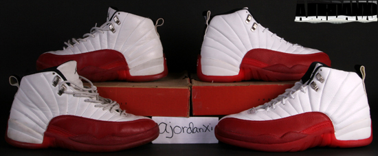 best website 7c7dc cead3 Air Jordan XII (1997). 130690-161 White Varsity Red-Black