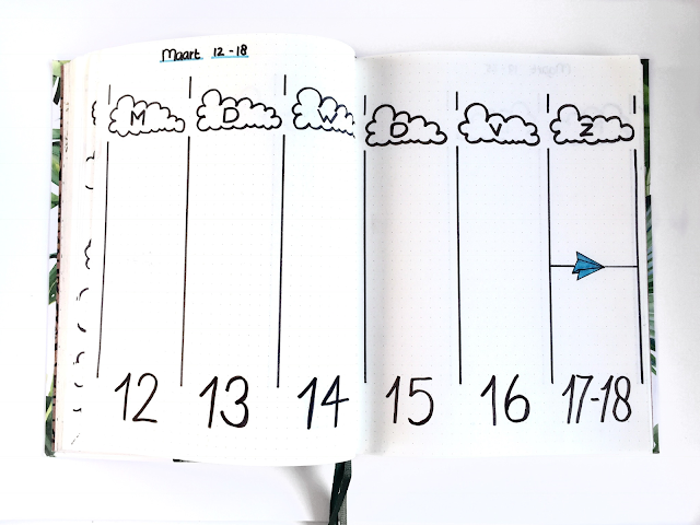 Bullet Journal Maart weekoverzicht