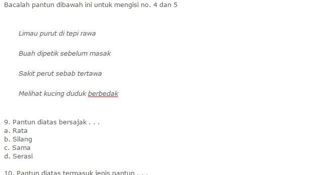 Latihan Soal UKK Bahasa Indonesia Kelas 4 SD Semester 2