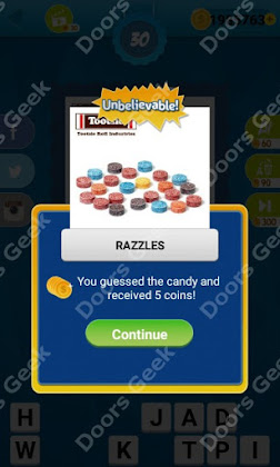 Answers, Cheats, Solutions for Guess the Candy Level 30 for android and iphone