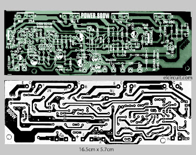 PCB Layout Power Amplifier 800W