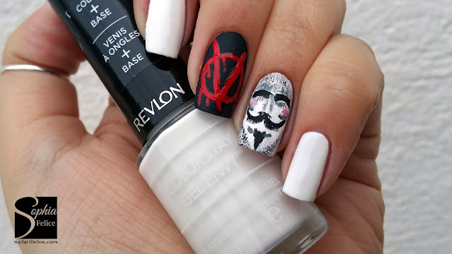 nail art v for vendetta 01