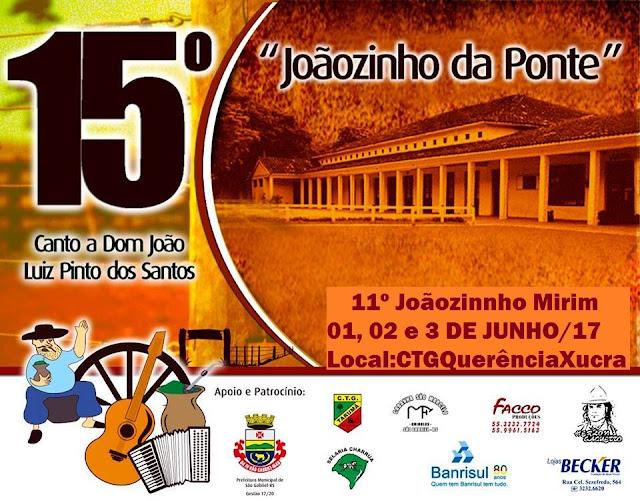 Vem aí o 15º Canto a Dom João Luiz Pinto dos Santos e 11º Joãozinho Mirim
