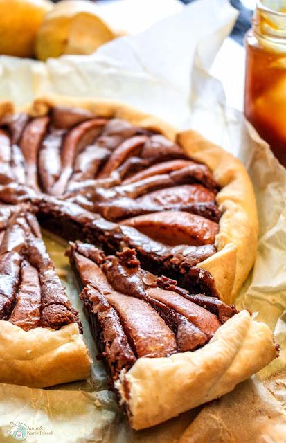 Nutella-Birnen-Kuchen