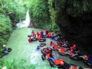 River Tubing Satirah Merupakan Obyek Wisata yang Terpopuler ke 3  (tiga )  di Sekitar Pangandaran