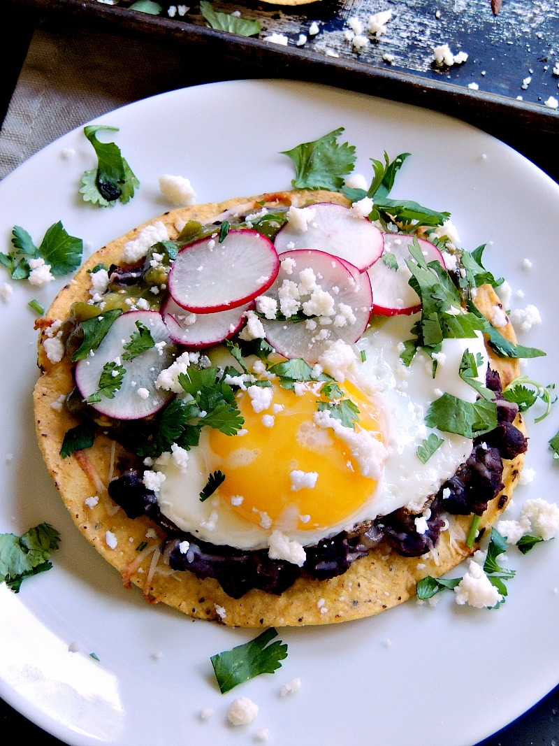 Huevos Rancheros Tostadas are easy to make, but are sure to please. Take a little trip south of the border for breakfast without ever leaving your kitchen.