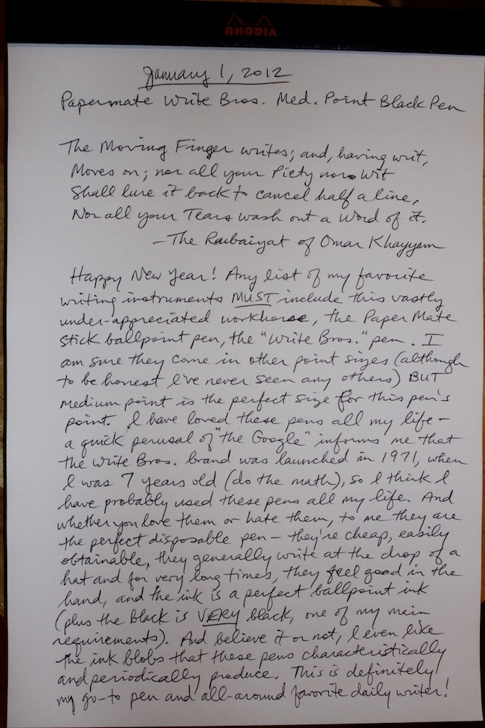 Write on black paper