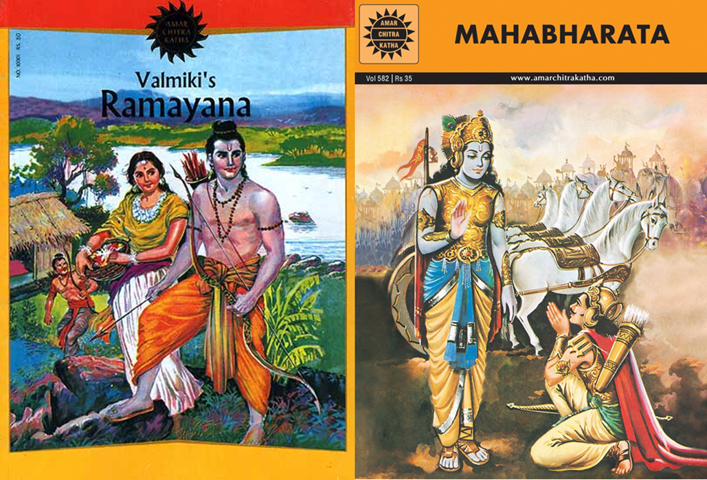 Write about the two epics ramayana and mahabharata king